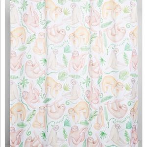 NWT, sloth shower curtain